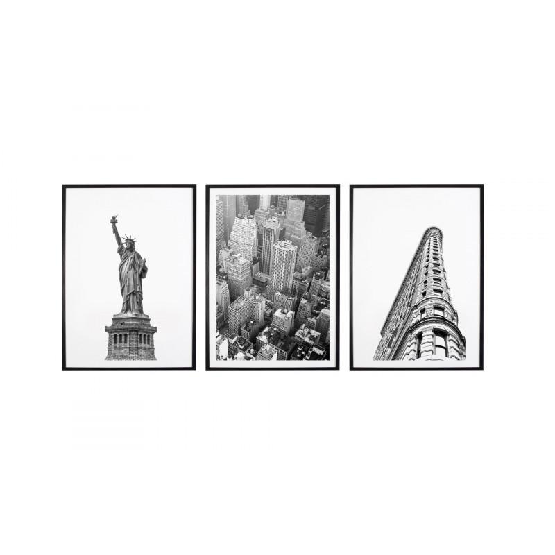 Tryptyk New York City Plakaty W Ramach 3x 30x40cm
