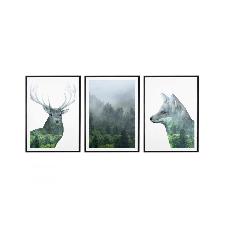 Tryptyk Forest 1 Plakaty W Ramach 3x 30x40cm
