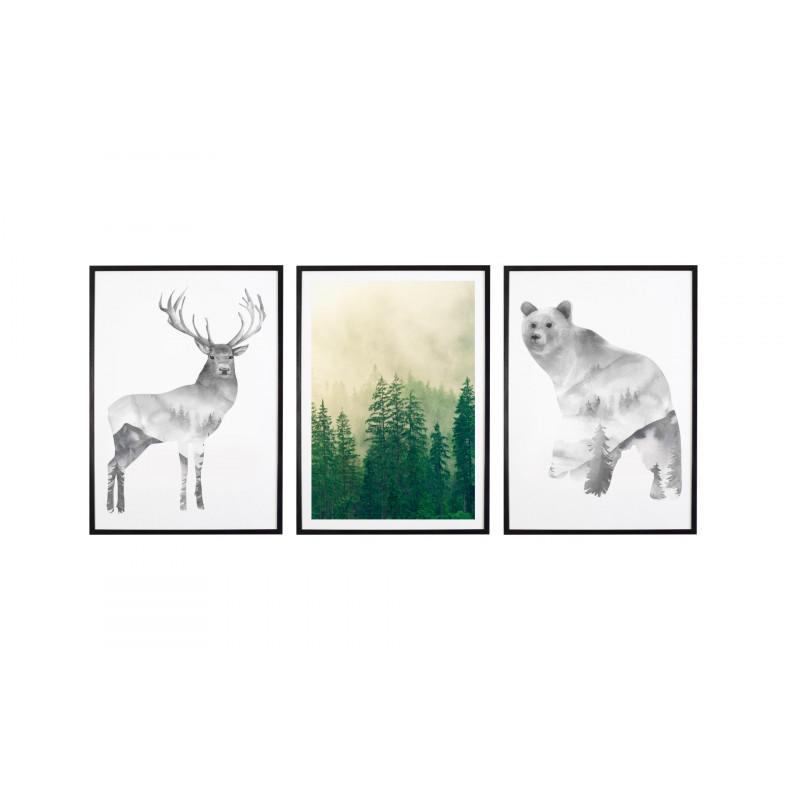 Tryptyk Forest 3 Plakaty W Ramach 3x 30x40cm